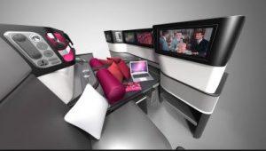 business class flights amenities