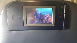 business class flights private screen