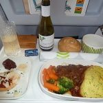 business class flights meal